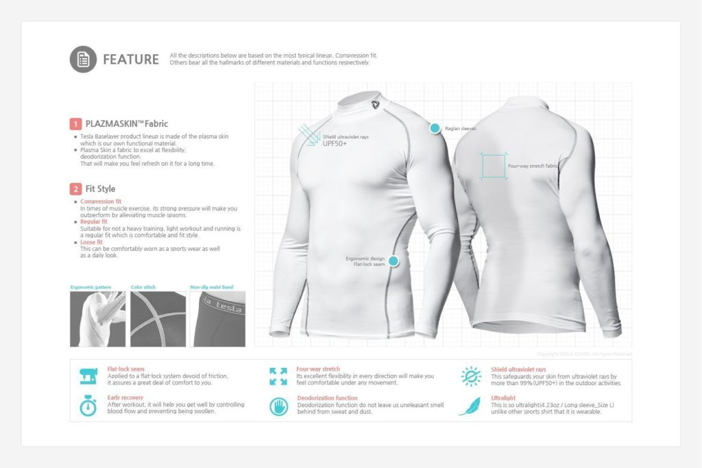 tesla-compression-shorts-features