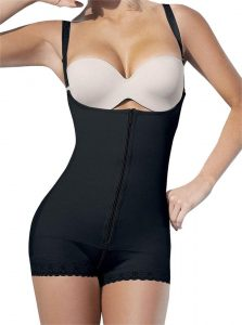Camellias Women's Shapewear Open Bust Bodysuit