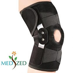 MEDIZED Adjustable Double Metal and Hinged Knee Brace Support