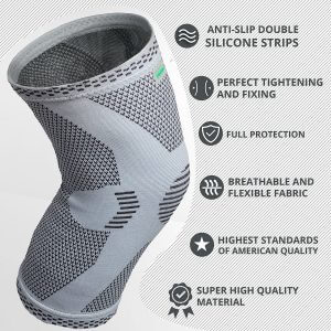 anri-e knee compression sleeve features