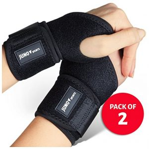 JunoSports Adjustable Athletic Wrist Brace Support for Carpal Tunnel