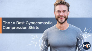 Man in a gynecomastia compression shirt smiling